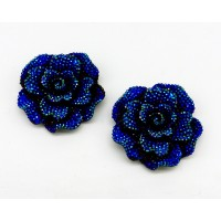 Alice Shoe Clips - electric blue