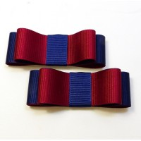 Carly - Claret and Navy Shoe Bows