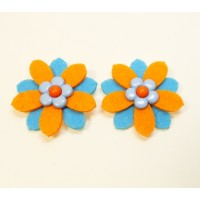Daisy - Orange Children's  Shoe Clips