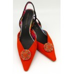 Emma Shoe Clips - orange