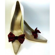 Marilyn - Black and Red Shoe Bows