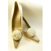 Polly - Ivory Shoe Clips