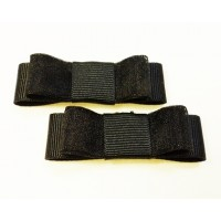 Bella Shoe Bows - Black