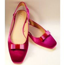 Bella Shoe Bows - Crimson Pink