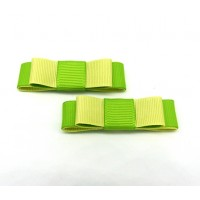 Bella Shoe Bows - Lemon and Lime