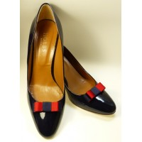 Bella Shoe Bows - Navy and Red