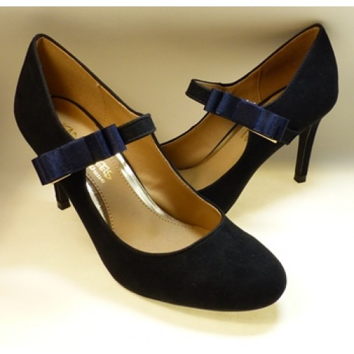 Bella Shoe Bows - Navy