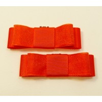 Bella Shoe Bows - Tangerine