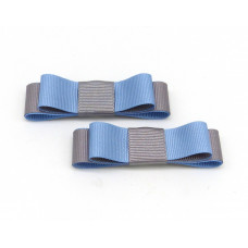 Bella Shoe Clips - Grey and Blue
