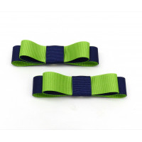Bella Shoe Clips - Navy and Lime