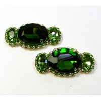 Candy Shoe Clips - green