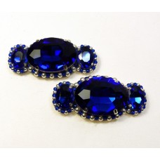 Candy Shoe Clips - royal blue