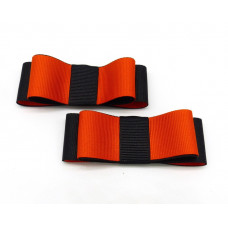 Carly - Black and Orange Shoe Bows