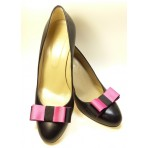 Carly - Pink and Black Shoe Bows