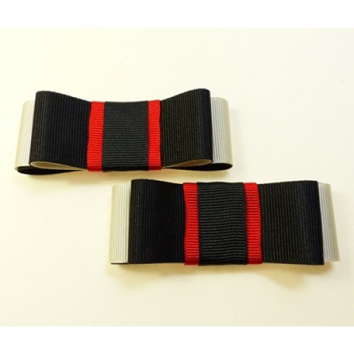 Carly Shoe Bows - black, ivory and red