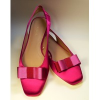 Carly - Crimson Pink Shoe Bows