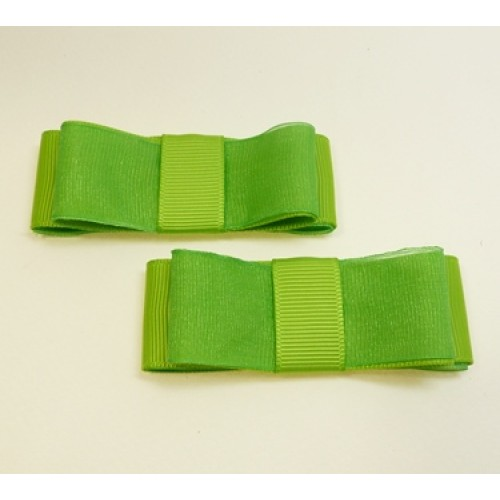 Carly - Lime Shoe Bows
