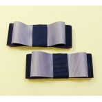 Carly - Navy and Purple Shoe Bows