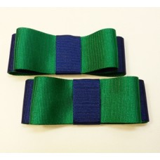 Carly - Emerald and Navy Shoe Bows