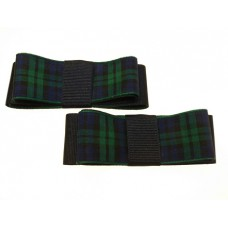 Carly - Nightwatch Tartan Shoe Bows