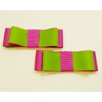 Carly - Lime and Pink Shoe Bows