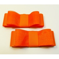 Carly - Tangerine Shoe Bows