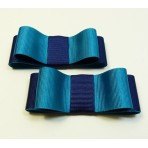 Carly - Turquoise and Navy Shoe Bows
