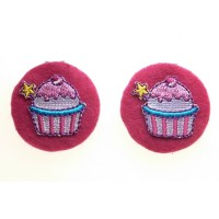 Cupcake Children's  Shoe Clips