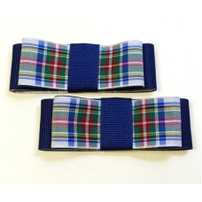 Carly - Dress Stewart Tartan Shoe Bows