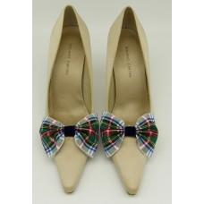 Tartan Bow - Dress Stewart Shoe Bows