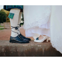Bespoke Woollen Tartan Shoe Bows