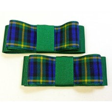 Carly - Gordon Tartan Shoe Bows