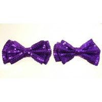 Holly - Purple Shoe Bows