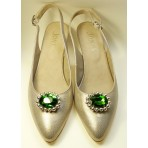 Kitty - Emerald Shoe Clips
