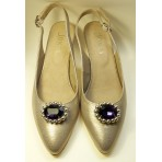 Kitty - Amethyst Shoe Clips