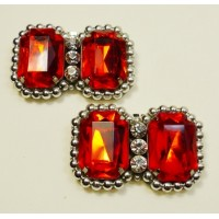 Madison Shoe Clips - fiery red