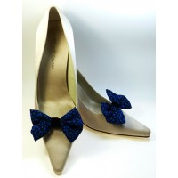 Marilyn - Black and Blue Shoe Bows