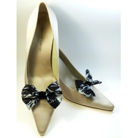 Marilyn - Black and White Shoe Bows