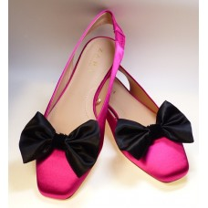 Marilyn - Black Satin Shoe Bows