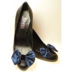 Marilyn - Blue Satin Shoe Bows
