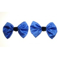 Marilyn - Cornflower Silk Shoe Bows