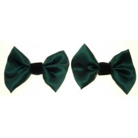 Marilyn - Green Silk Shoe Bows
