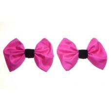 Marilyn - Lipstick Silk Shoe Bows
