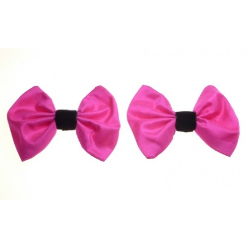 Marilyn - Lipstick Silk Shoe Bows