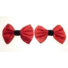 Marilyn - Poppy Silk Shoe Bows