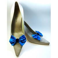 Marilyn - Turquoise Silk Shoe Bows