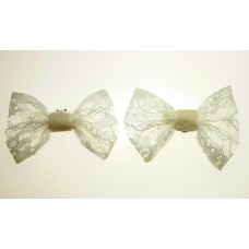 Marilyn - Ivory Lace Shoe Bows