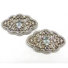Minty Shoe Clips - sparkle