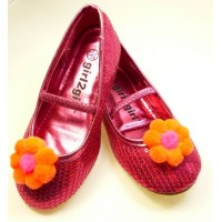 Missie - orange Children's  Shoe Clips