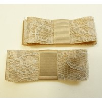 Carly - Wedding Golden Lace Shoe Bows